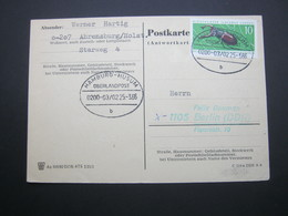 Bahnpost:  1966, HAMBURG - HUSUM    Überlandpost     , Klarer   Stempel Auf Beleg - BRD