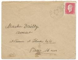 1f50 MARIANNE DE DULAC SUR ENVELOPPE / ST ENNEMOND ALLIER POUR PARIS /  1945 - 1921-1960: Periodo Moderno