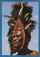 KENYA SUK DANCERKENYA KIKUYU DANCER OSTRICH FEATHER HEAD-GEAR - Kenia