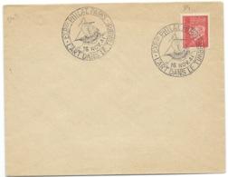 1f PETAIN SUR ENVELOPPE  / CAD EXPOSITION PARIS / L'ART DANS LE TIMBRE 1941 - Storia Postale