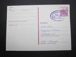 Bahnpost:  HAMBURG - FLENSBURG  , Klarer   Stempel Auf Karte - BRD