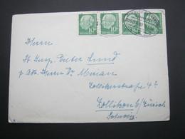 1954 ,Bahnpost:  HAMBURG - FLENSBURG  , Klarer   Stempel Auf Brief - BRD
