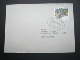 1987 ,Bahnpost:  HAMBURG - FLENSBURG  , Klarer   Stempel Auf Brief - BRD