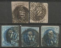 Belgique - Médaillons - Oblitérations P105 ST NICOLAS - Postmark Collection