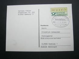 1991   ,Bahnpost:  HAMBURG - ROSTOCK  , Klarer   Stempel Auf Brief - [7] República Federal