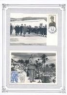 FRANCE - 2 CARTES GENERAL DE GAULLE PARIS + BREST NAVAL - De Gaulle (General)