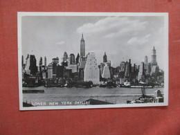 RPPC  Lower NY Skyline   New York > New York City >  Ref 3893 - Manhattan