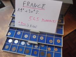 START 1 EURO ! COLLECTION FRANCE 545 MONNAIES 19e+20e SIECLE EN BOX (POIDS 7 KILOS) LIRE DETAIL ! - France