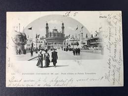 CPA Paris Exposition Universelle 1900 Pont Iéna Palais Trocadéro Timbre Type Sage Cachet Rapp - Expositions