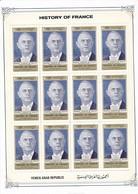 YEMEN ARAB REPUBLIC - BELLE FEUILLE NEUVE DE 12 TIMBRES GENERAL DE GAULLE - De Gaulle (General)