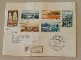 Raccomandata Merano-Zaandam (Paesi Bassi) - 27/01/1954 Destinazione Non Comune - 6. 1946-.. República