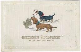 DACKEL - DACHSHUND 1914 Mit Kleeblatt - Illustrateurs & Photographes