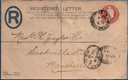 Britain 1902 Registered Envelope Edward VII Western District Office WDO To Manchester 153x96 Mm Type 1895 2002.1501 - 1902-1951 (Koningen)