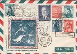 Autriche Entier Postal Illustré Poste Par Ballon 1953 - Entiers Postaux