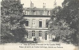 CPA Paris Hôtel Des Comtes D'Hinnisdal Rue Cassette - Arrondissement: 06