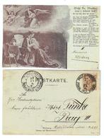 Österreich, 1898, Postkarte Nach Prag, Frankiert Mit MiNr.70 U. Stempel Von Prag-Kleinseite (11161E) - Entiers Postaux