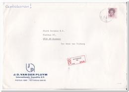 Aangetekende Brief, Van Rotterdam ( Slag ) Naar Boxmeer, J.D. Van Der Pluym Int. Expeditie Bv - Period 1980-... (Beatrix)