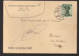 9326- Austria, Osterreich , Card To Italy Year 1954 - - Entiers Postaux