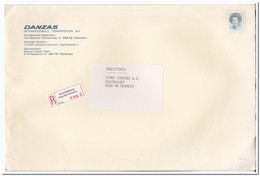 Aangetekende Brief, Van Rotterdam ( Slinge Pendrecht ) Naar Boxmeer, Danzas Int. Transporten - Period 1980-... (Beatrix)