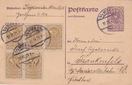 Autriche Entier Postal Réponse Payée Wien + Frankenfels 1921 - Entiers Postaux