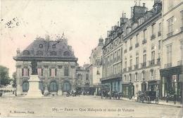 CPA Paris Quai Malaquais Et Statue De Voltaire - Arrondissement: 06