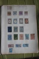 2 Feuilles Avec Timbres Collés - Revenue Stamps
