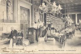 CPA Paris Ecole Nationale Des Beaux Arts La Bibliothèque - Arrondissement: 06