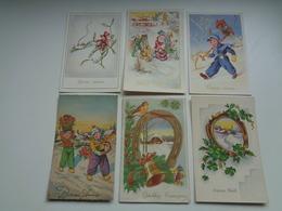Lot De 60 Cartes Postales De Fantaisie Fer à Cheval    Lot Van 60 Postkaarten Fantasie Hoefijzer  - 60 Scans - Postkaarten