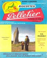 Ancien Buvard Collection Biscottes Pelletier 66.68 Rue De La Fraternité Romainville Seine Menhir Bretons Bretagne - Alimentaire