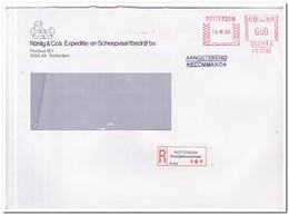 Aangetekende Brief 1986, Rotterdam ( Oranjeboomstraat ) Röhlings & Co's Exp. En Scheepvaartbedrijf Bv - Period 1980-... (Beatrix)