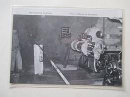 Mine De Sel De BEX (Suisse)   PERFORATRICE Machine Sullivan  -  Coupure De Presse De 1960 - Altri Apparecchi