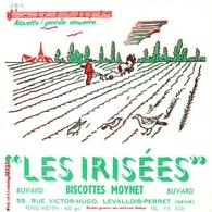 Ancien Buvard Collection Biscottes Moynet 59 Rue Victor Hugo Levallois Perret Seine Alouette Gentille .... - Alimentaire