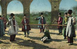 Azerbaijan Russia, BAKU BACOU, Punishment Criminal, Foot Whipping 1911 Postcard - Azerbaïjan