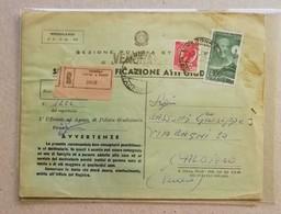 Raccomandata Notifica Atti Giudiziari Verona Per Caldiero - 05/03/1957 - 6. 1946-.. Repubblica