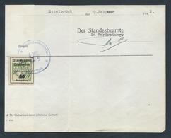 """Gebührenmarke Standesamt Ettelbrück - 60 Rpf Stempel """"Standesbeamter Ettelbrück"""" (09-02-1942) - Fiscaux"""