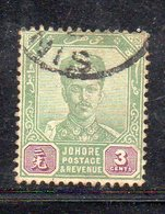 XP5029 - JOHORE MALAYSIA 1896 , Yvert N. 23  Usato (2380A) - Johore