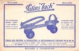 Ancien Buvard Collection Patins Jack Ets Parme 73 Rue François Arago Montreuil Seine Sports Jeux - Sport