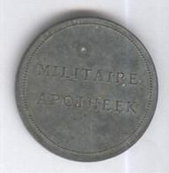Jeton Pays-Bas Militaire Apotheek - Rijks Eigendom / Pharmacie Militaire - Propriété De L'État - Zinc - Professionals/Firms