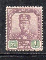XP5021 - JOHORE MALAYSIA 1904 , Yvert N. 43  *  Linguella (2380A) - Johore