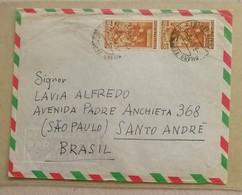 Lettera Per Via Aerea Milano-Santo André (Brasile) - 09/12/1953 - 6. 1946-.. Repubblica
