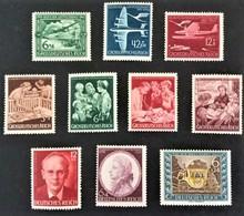 1941-1944**) Luftpostdienst Mi.866-868, Mutter Und Kind Mi.869-872, Rosegger Mi.856, Tag Der Briefmarke Mi.828, Mozart M - Deutschland