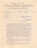 1912 SOCIETE NATIONALE DES EXPOSITIONS FLOTTANTES DES PRODUITS FRANCAIS A PARIS - M. MONNETTE A COGNAC  47-0796 - 1800 – 1899