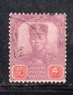 XP5015 - JOHORE MALAYSIA 1904 , Yvert N. 46  Usato (2380A) - Johore