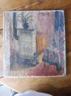 """Tableau  """"LE FOURNEAU""""  Daté En 1926 Signé (mention :A NOTRE CHER AMI MONSIEUR PICARD EN SOUVENIR DE LA FAMILLE DROODOFF - Non Classés"""