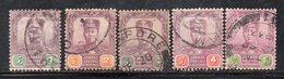 XP5064 - JOHORE MALAYSIA 1904 , Cinque Valori Diversi Usati (2380A) - Johore