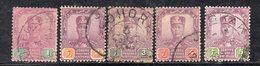 XP5069 - JOHORE MALAYSIA 1911 , Cinque Valori Diversi Usati (2380A) - Johore
