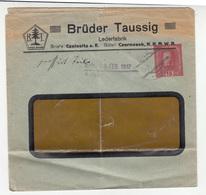 Brüder Taussig Lederfabrik, Czalositz (Žalhostice) Company Preprinted Postal Stationery Letter Cover Posted 1917 - Entiers Postaux