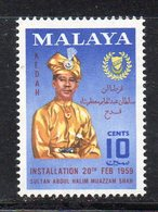 XP5018 - KEDAH MALAYSIA 1959 , Yvert N. 100  **  MNH    (2380A) - Kedah
