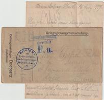Ar RC, 117 :  LFM Prisonnier De Guerre Français Müncheberg 26/6/1917 - Guerre De 1914-18