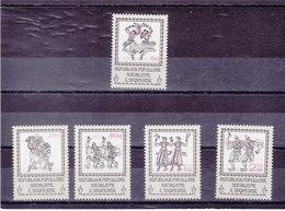ALBANIE 1978 COSTUMES ET DANSES Yvert 1761-1765 NEUF** MNH - Albania